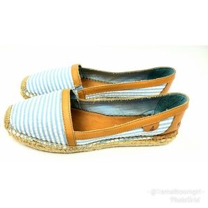 Sperry Top Sider Espadrille flats blue/white 9